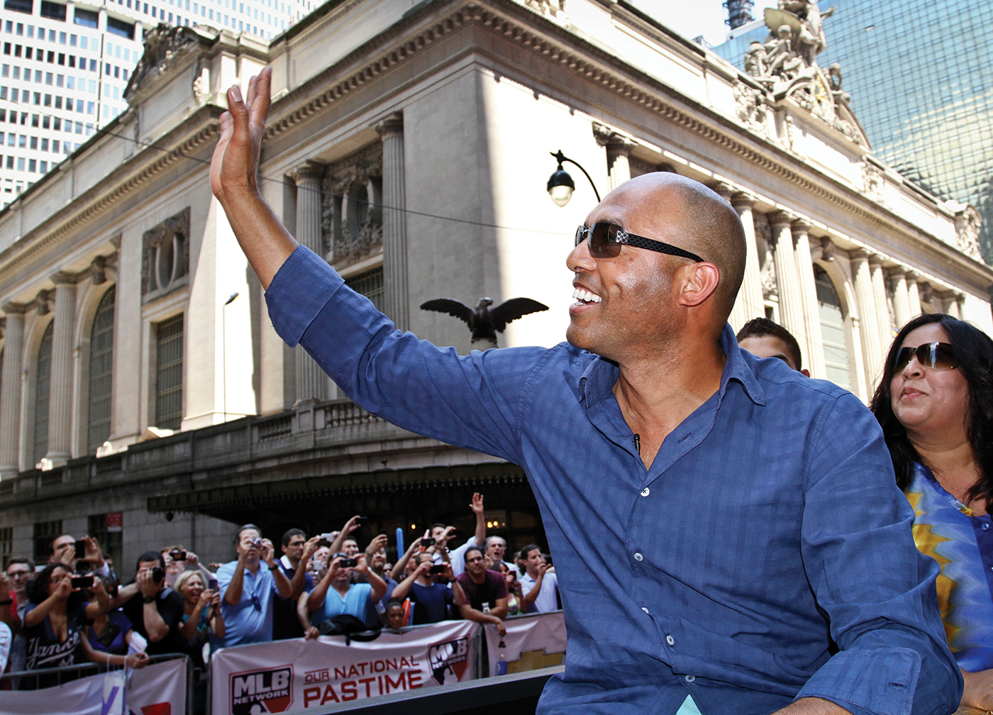 New York Yankees pitcher Mariano Rivera, the MVP of the 2013 MLB All-Star Game,  was one of many All-Stars to participate in July's MLB All-Star Parade in Manhattan. Image courtesy of Jon Gerberg/AP Images