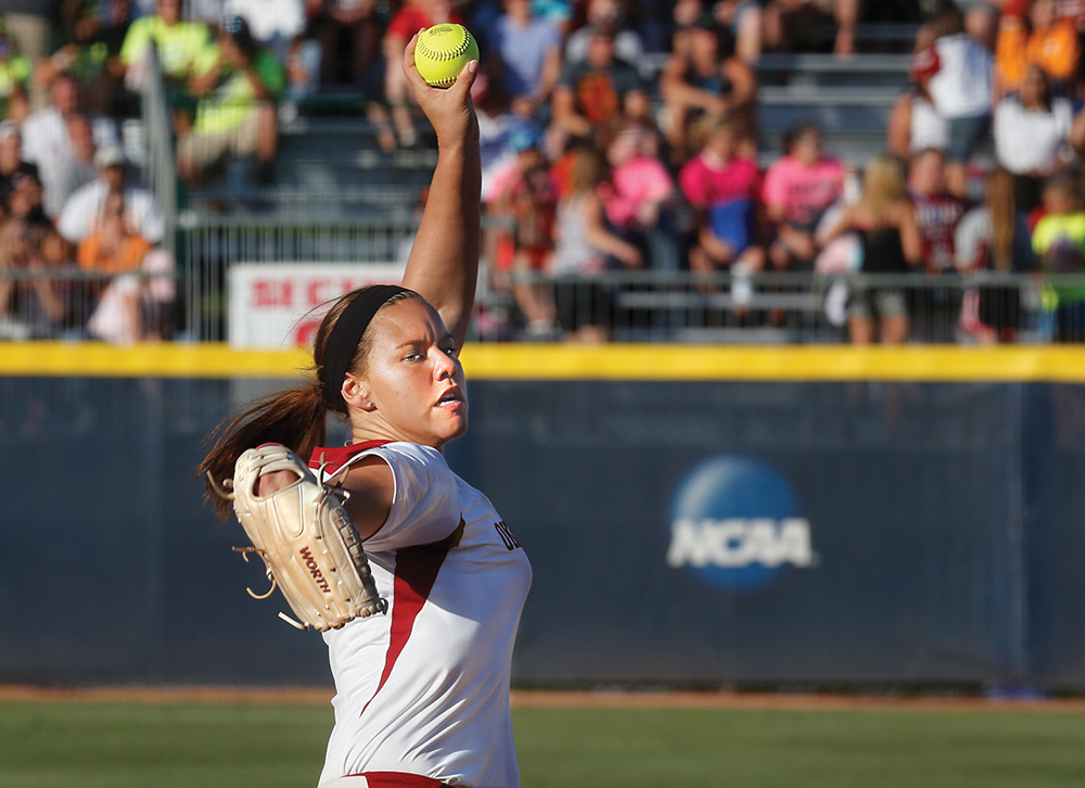 The NCAA Women's College World Series is held annually at the Amateur Softball Association Hall of Fame complex in Oklahoma City. The University of Oklahoma Sooners won the 2013 event at the stadium. Photo courtesy of Sue Ogrocki/AP Images