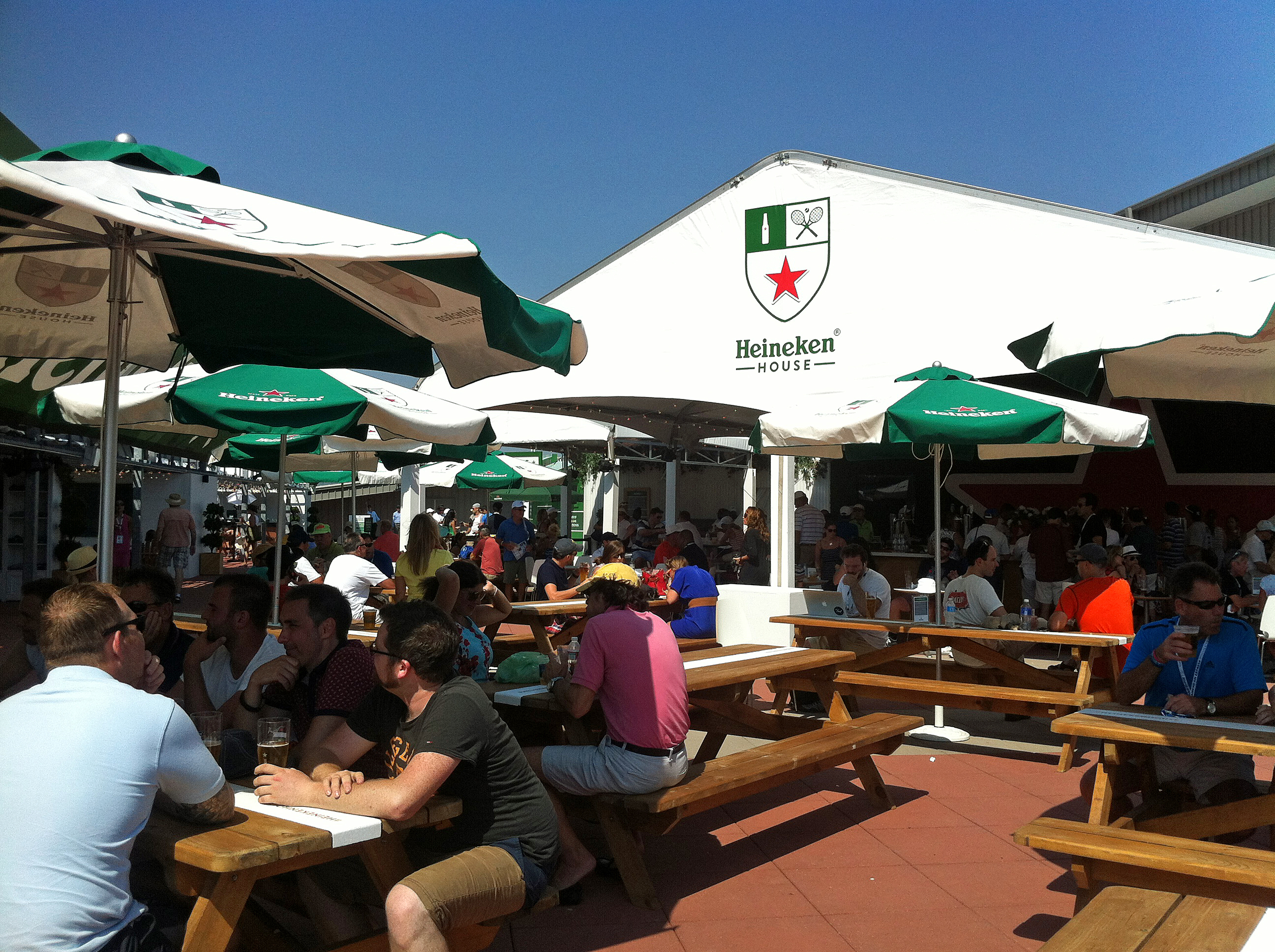 Now in its 23rd year of sponsoring the U.S. Open, Heineken brought back its popular Heineken House, which this year offered sandwiches created by NYC-based chef Mario Carbone.