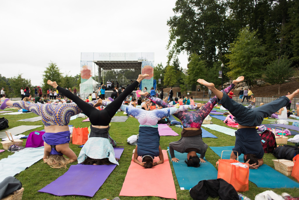 Yogis of all skill levels are encouraged to participate at Wanderlust 108. Photo by Joy Hmielewski for Wanderlust Festival.