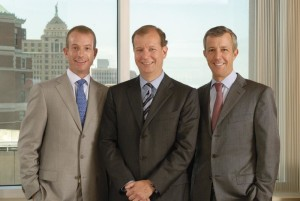 From left to right: Charlie Jacobs, Jeremy Jacobs Jr. and Louis Jacobs