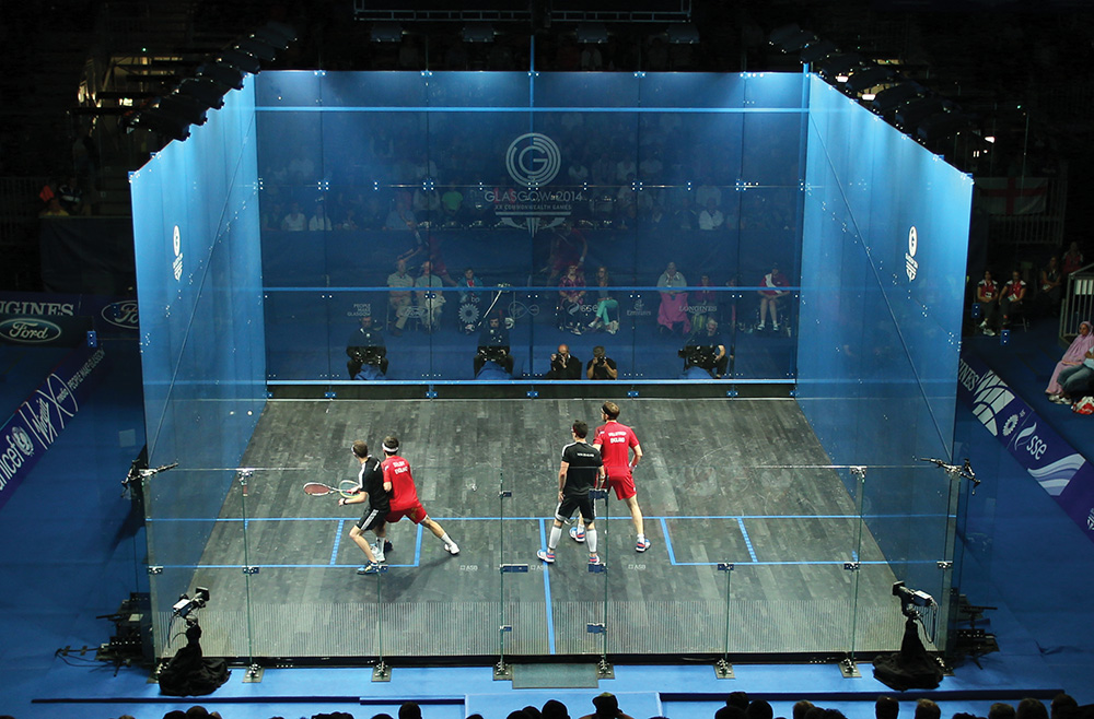 At the elite level, squash is played at the Commonwealth Games, the Pan American Games and the Asian Games but has come up just short in recent years in its efforts to gain inclusion in the Olympics. Photo courtesy of Paul Mcfegan/Sportsphoto/UPPA/Zuma Wire