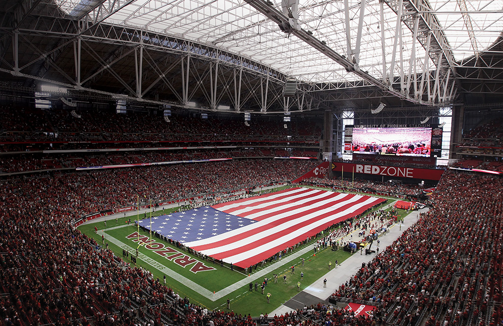 University of Phoenix Stadium in Glendale, Arizona, is home to the NFL's Cardinals and will serve as  the host venue for Super Bowl XLIX on February 1. Photo courtesy of Christian Petersen/Getty Images