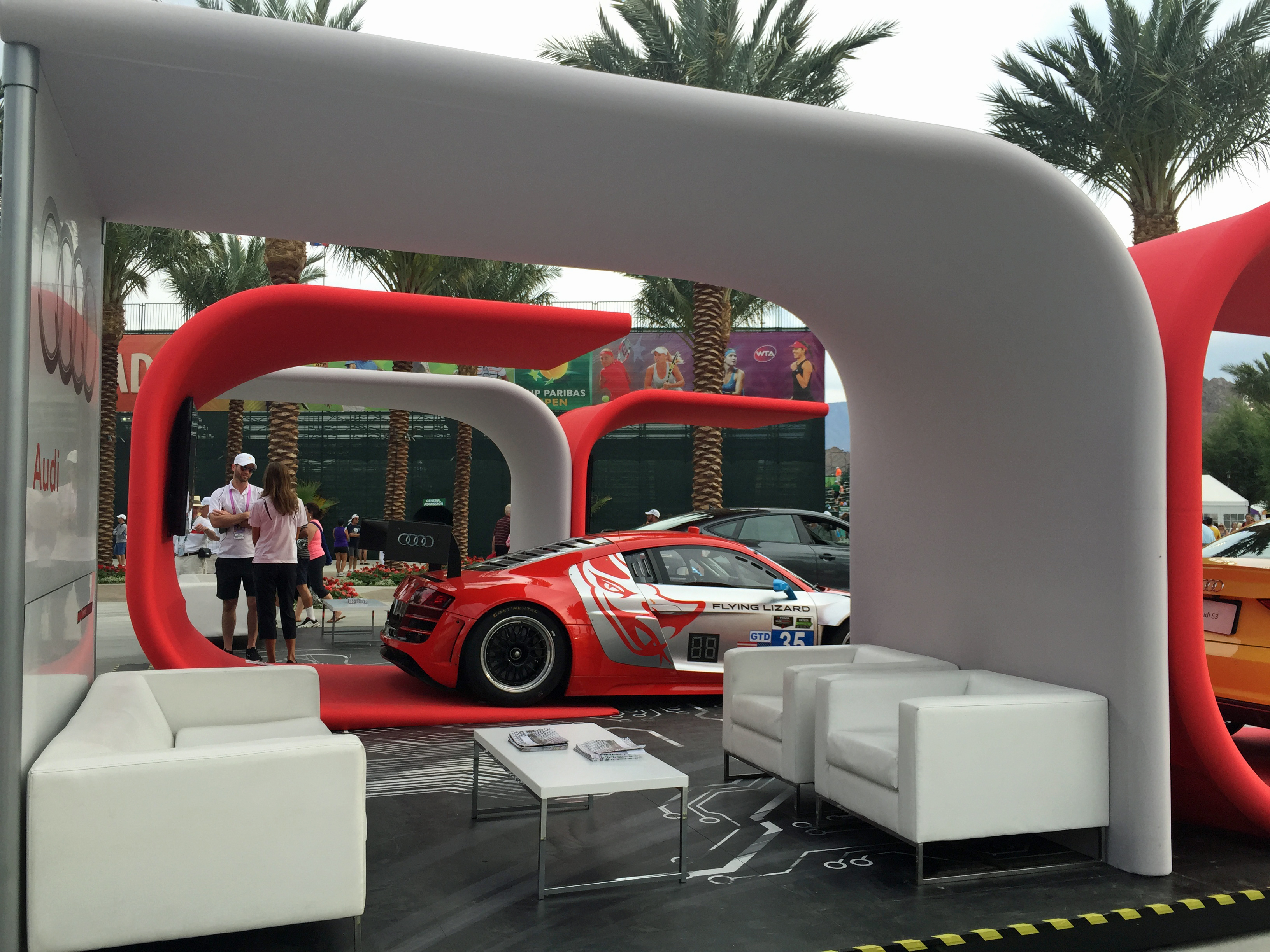 Audi was one of six new sponsors at this year's BNP Paribas Open in Indian Wells.