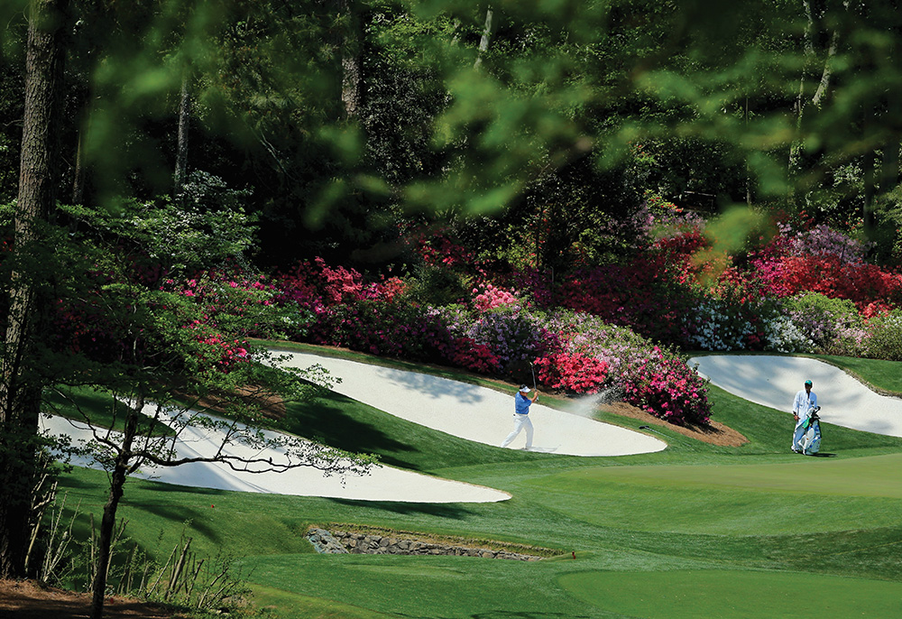 Augusta National Golf Club in Georgia is the home of the Masters, the first of the four major championships in men's professional golf. Photo courtesy of David Cannon/Getty Images