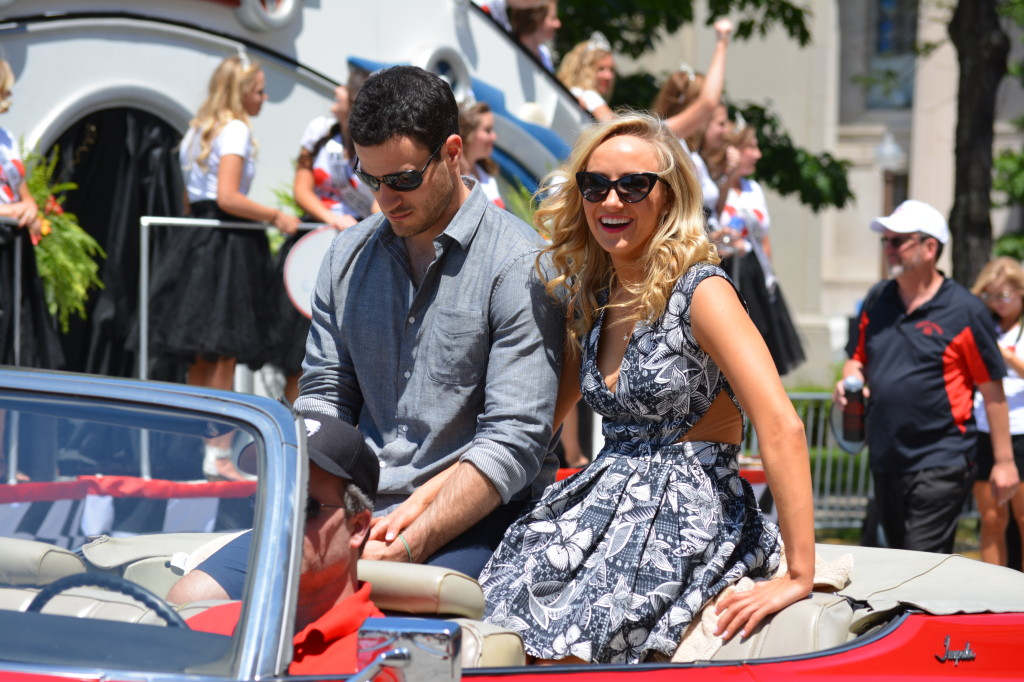 Gymnast Nastia Liukin was one of several VIPs at the Indy 500 parade.