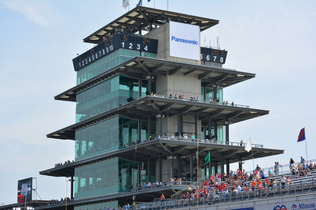 The pagoda near the finish line at the Indianapolis Motor Speedway.