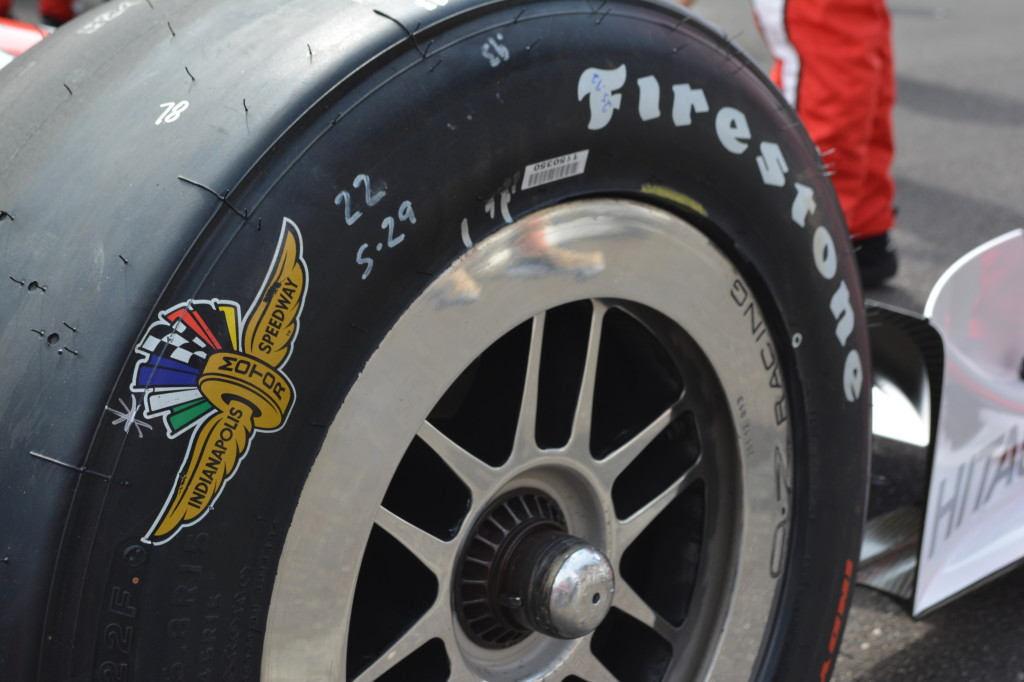 Each tire has the IMS logo on it.