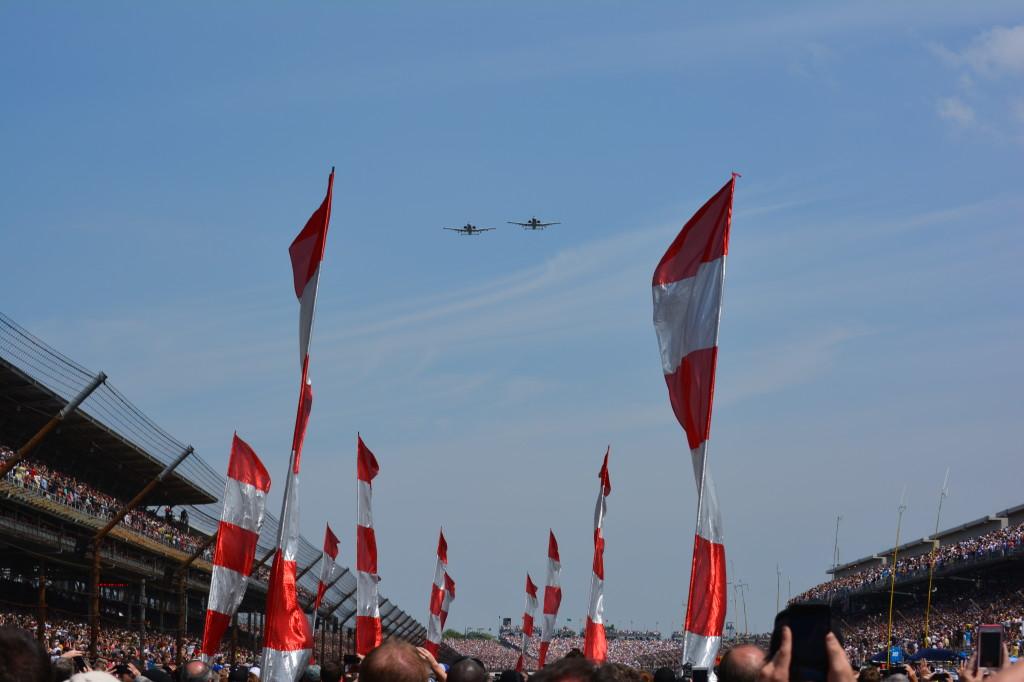 The pre-race flyover.