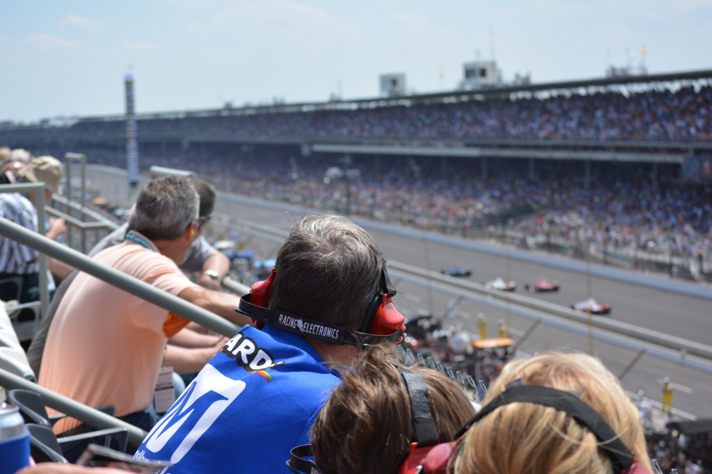 Ear protection is a wise choice at the Indy 500.