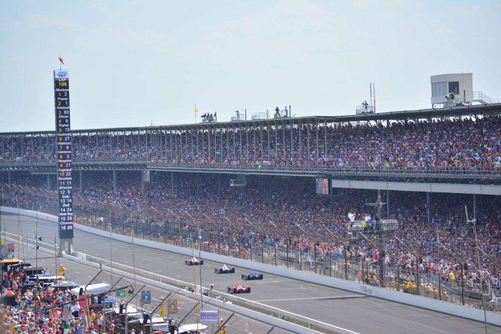 The front straightaway at the Indianapolis Motor Speedway.