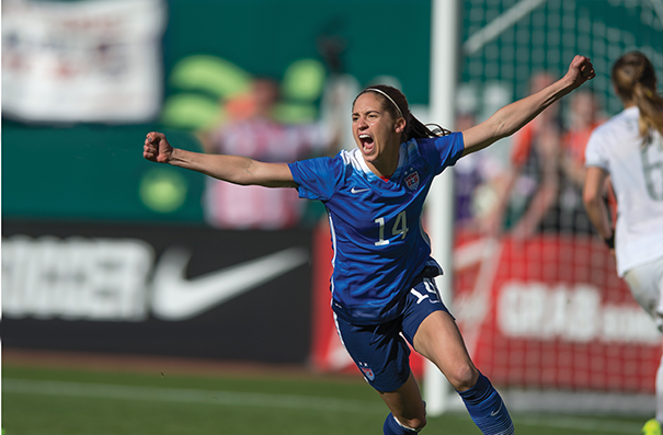 Morgan Brian scored during a friendly with New Zealand in St. Louis in April, one of the U.S. team's final matches before the World Cup. Photo by John Todd/isiphotos.com