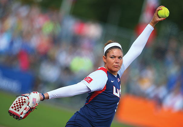 The U.S. national women's team is one of the highest ranked in the world. Sara Nevins pitched for the U.S. team at the 2014 World Championships in Haarlem, Netherlands, where the team finished second. Photo Courtesy of Ye Pingfan/Xinhua/ZUMA Wire