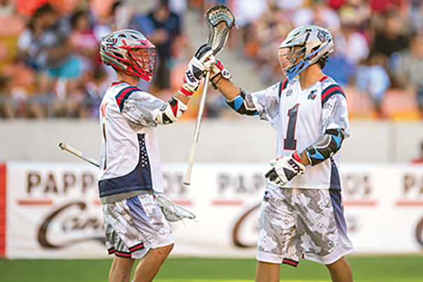 1  The 2015 Major League Lacrosse All-Star Game was staged at BBVA Compass Stadium in Houston and drew a crowd of 10,084. Photo courtesy of Trask Smith/Zuma Wire.