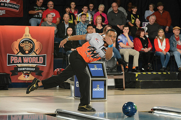 Gary Faulkner Jr. won the Rolltech Professional Bowlers Association World Championship in December in Reno, Nevada, becoming the second black athlete in the PBA's 57-year history to win a tour title. Photo courtesy of  PBA