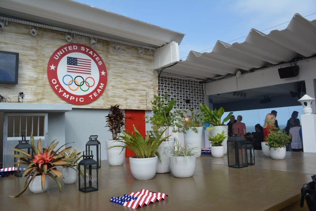 The rooftop terrace at USA House.
