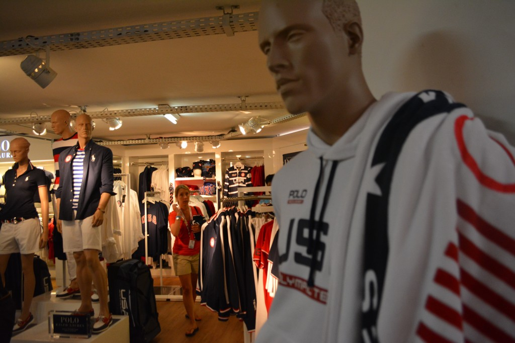 Inside the Team USA store, which is open to the public.