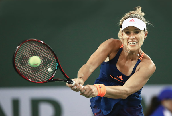 In March, Angelique Kerber of Germany took over as the top-ranked player on the WTA Tour. Photo by Clive Brunskill/Getty Images