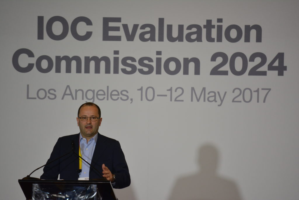 IOC Evaluation Commission Chairman Patrick Baumann