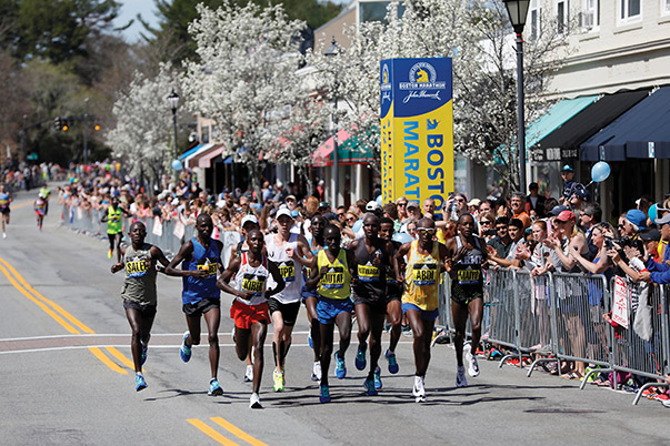 The Boston Marathon was staged in April by the Boston Athletic Association, marking the 121st running of the iconic race that is held on the streets of the city. Photo courtesy of Greg M. Cooper/USA Today Sports