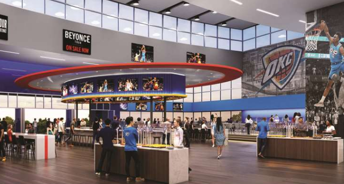 new style 724ff 65523 Renovations Proposed to Oklahoma City Thunder's Arena ...