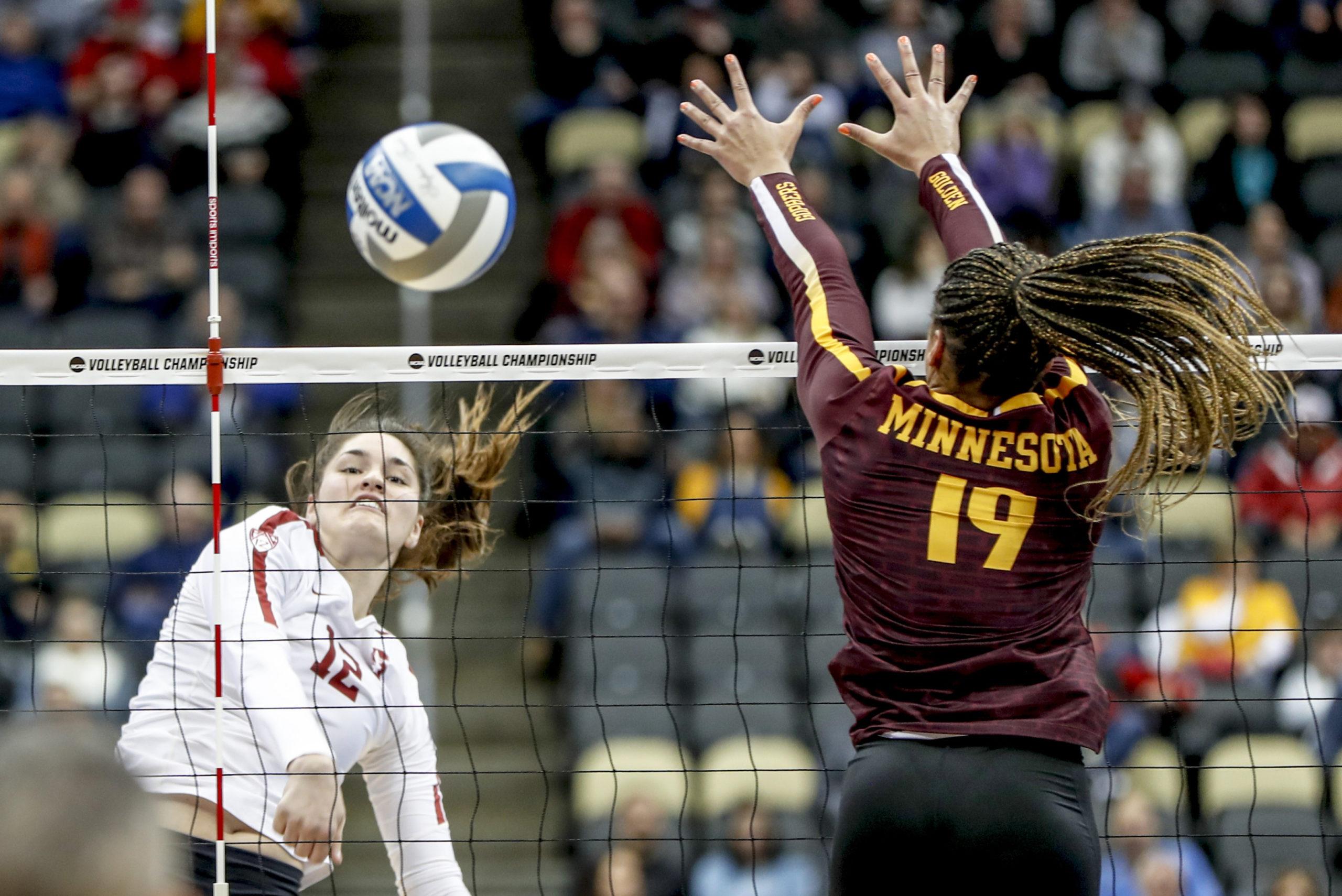 NCAA Minnesota Stanford Volleyball