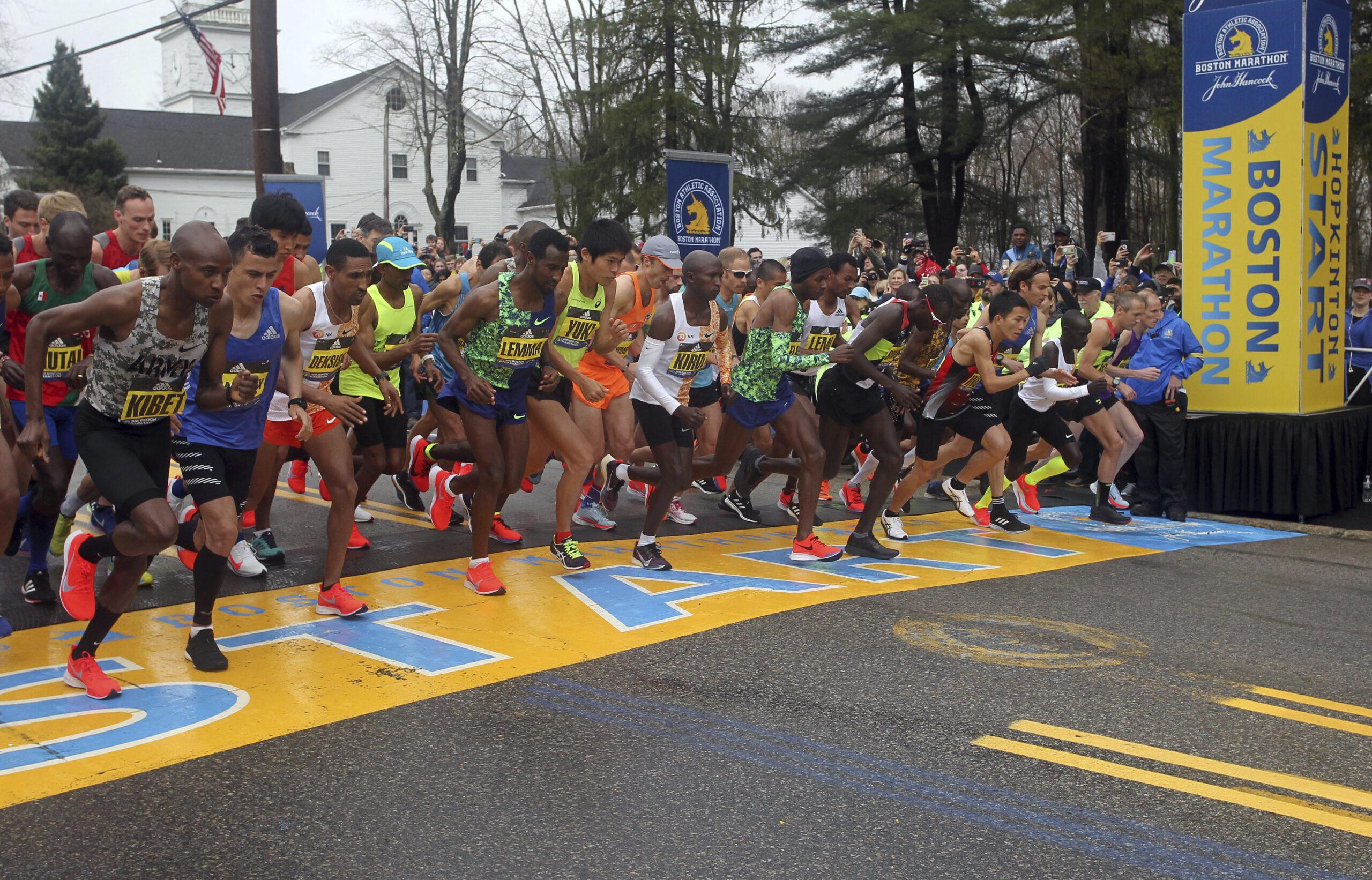 Virus Outbreak Boston Marathon