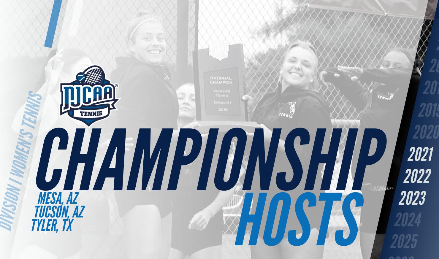 NJCAA tennis Championship_hosts