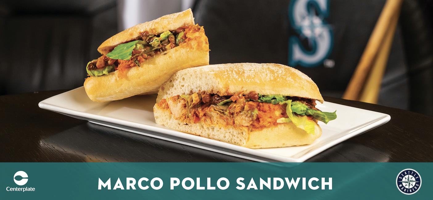 Mariners Marco Pollo Sandwich Recipe Card July 2020