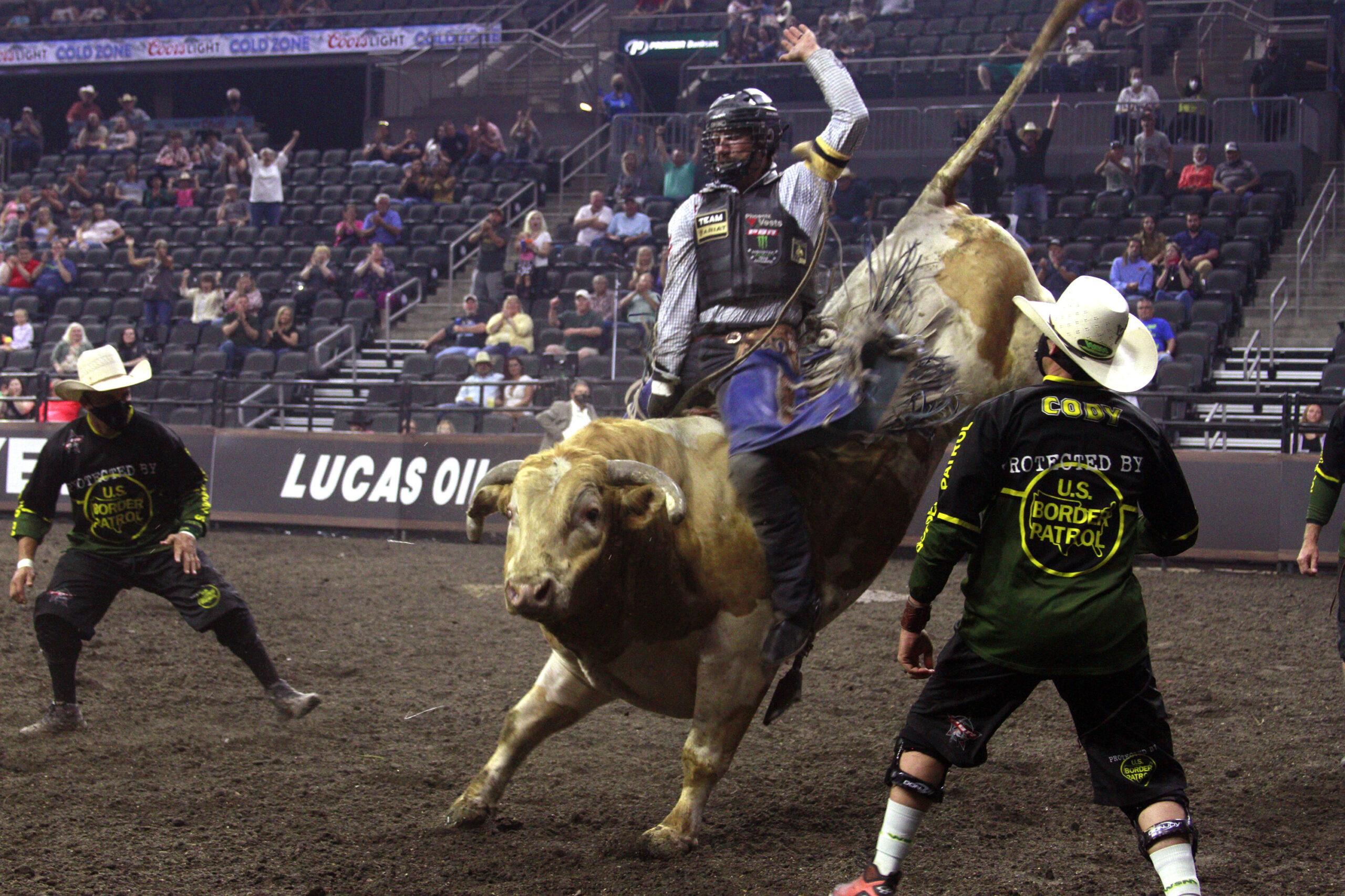 CORRECTION Bull Riding Crowds