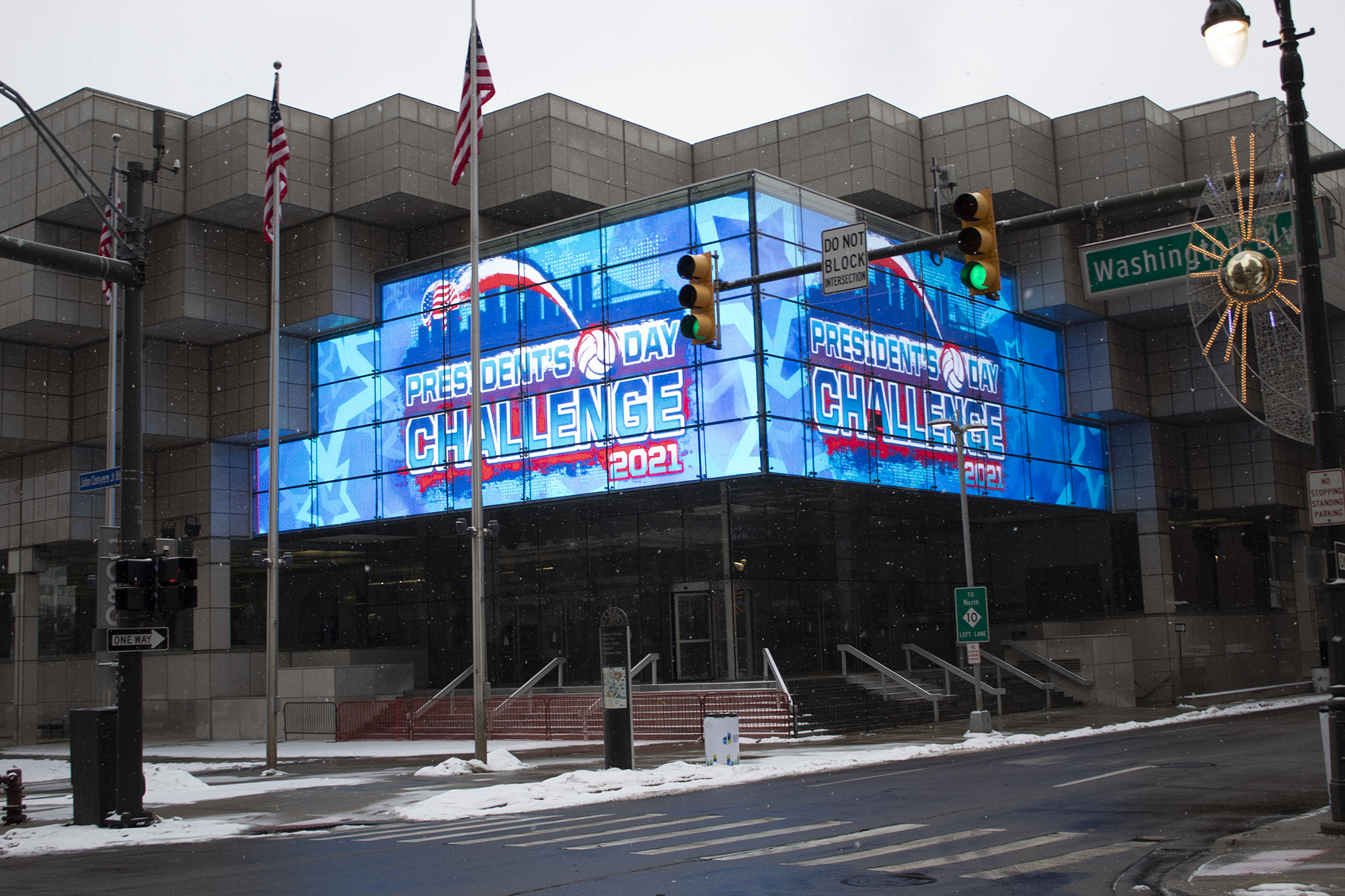 TCF Center digital sign
