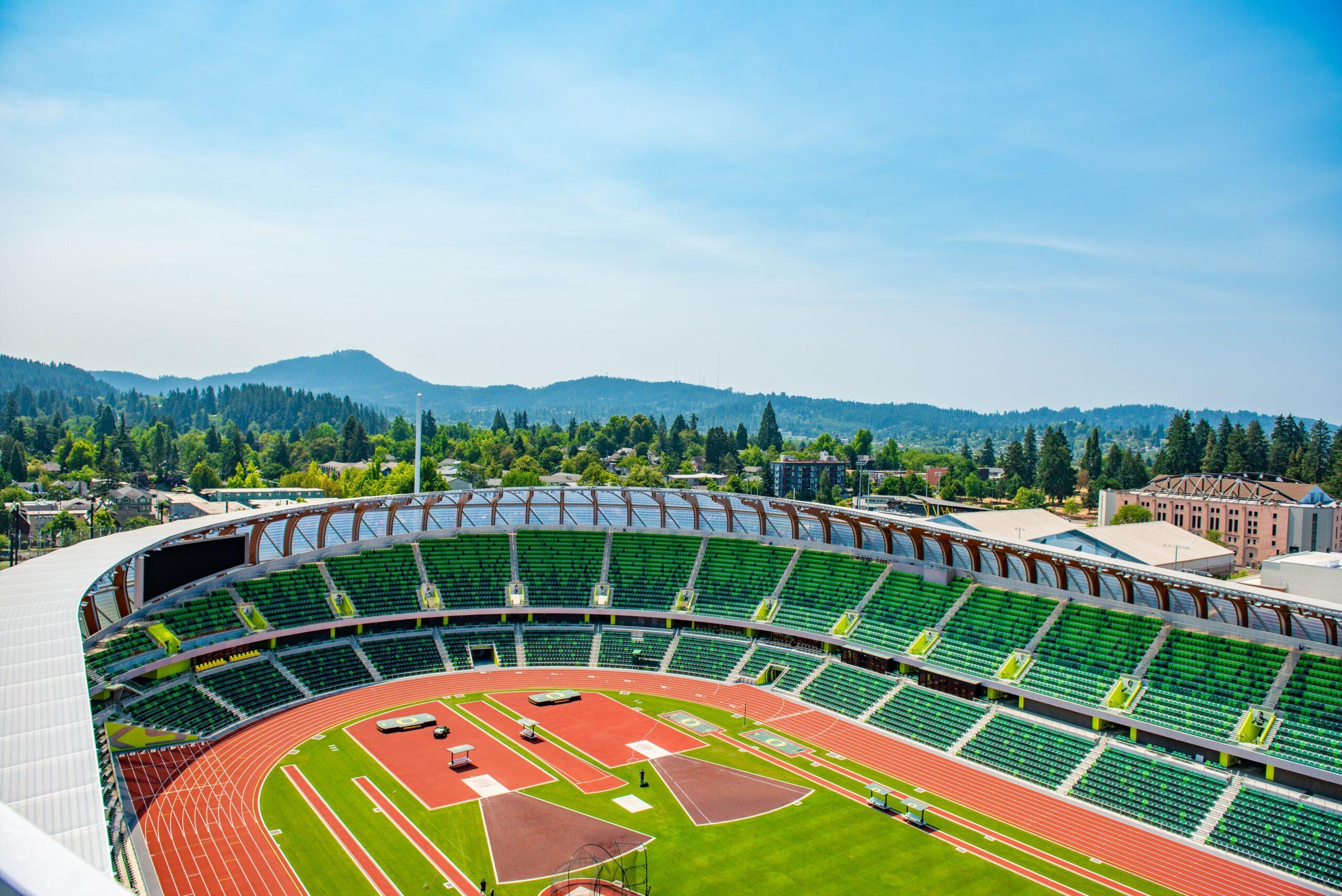 Hayward Field at the University of Oregon